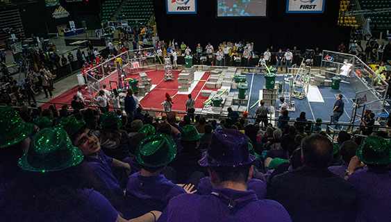 Students, alumni readied robots to rumble at Patriot Center
