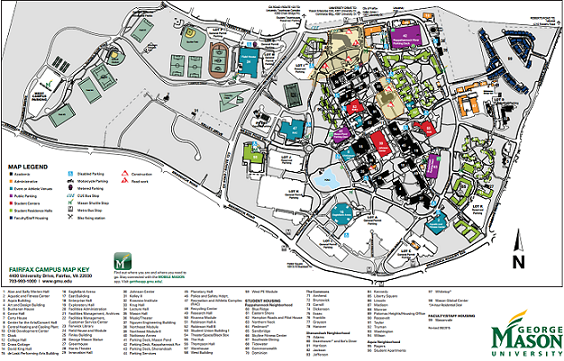 George Mason Campus Map George Mason University Alumni   Campus Maps | Directions