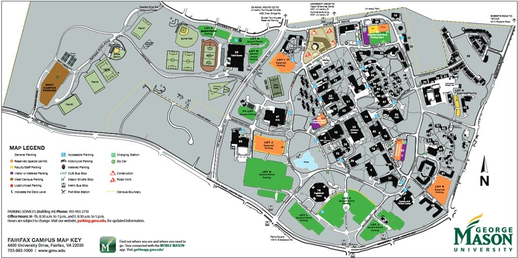 Gmu Parking Map Gmu Parking Map | compressportnederland Gmu Parking Map